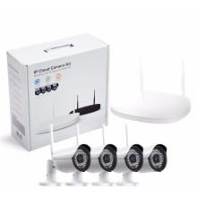Kit sem fio da câmera do sistema da câmera do CCTV do IP da bala de H.264 4CH 1080P Wifi