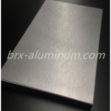 Anodized silver brushed aluminum sheet