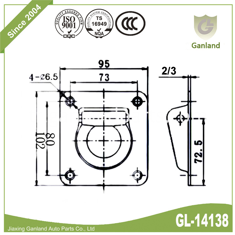 Recessed Pan Fitting gl-14138