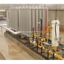 Vaporizador de líquidos criogénicos montados equipos