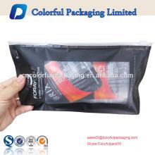 Bolsa de plástico de la cremallera de la diapositiva del precio de fábrica del logotipo de encargo para el embalaje del guante