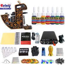 Solong TK105-59 Beginner Tattoo Kit with Tattoo Gun Power Supply Tattoo Kits With Needles