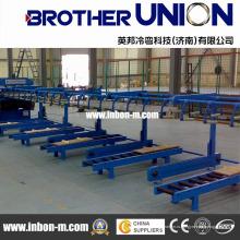 Профилегибочная машина для производства цветных легких килевых валков новой конструкции