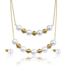 Trendy Fancy 22k Gold Kundan Halskette Set Rabatt Schmuck Perlenschmuck Set