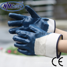 NMSAFETY oil resist nitrile gloves 3/4 coated Heavy duty work gloves made from China