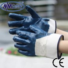 O óleo de NMSAFETY resiste às luvas do nitrilo 3/4 revestido Luvas resistentes do trabalho feitas a partir de China