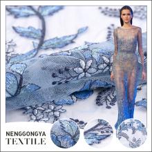 Fábrica de China Nuevo bordado químico de alta calidad de la tela de Dubai