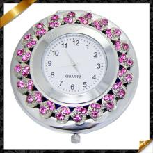 Rose Crystal Charms Montre bijoux, miroir en métal Montres (MW004)