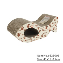 Papel corrugado Tablero Scratcher Bed Playing Pad Toy