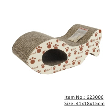 Corrugated paper Board Scratcher Bed Playing Pad Toy