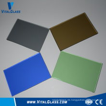 Farbiges gehärtetes gemustertes Glas / Fensterglas / Ultra Clear Float Glass