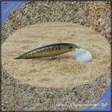 MNL045 10cm / 7g leurre en plastique dur Fish Black Minnow