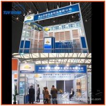 exhibition trade show display design, portable aluminum slatwall exhibition booth stands custom
