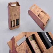 Caja acanalada de la cartulina del OEM que empaqueta para el vino
