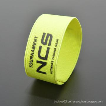 Günstige kundenspezifische Polyester Armband Mode elastische Handgelenk Band