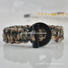 how to make paracord bracelet with fire starter buckle