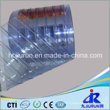 Feuille de rideau en plastique de bande de PVC avec nervuré