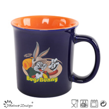 14oz Ceramic Mug Two Tone Glaze with Decal Printing