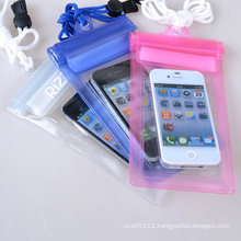 Customized Logo Promotional Clear PVC Waterproof Mobile Phone Cases (YKY7266)