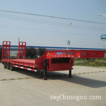 Low Bed Semi-trailer with 18,000kg/Axle Capacity and Steel Chassis