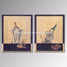 Champagne-Segeltuch-Plakat / Weinlese Hauptdekor-Wein-Segeltuch-Druck / Großhandelsklassische Wand-Kunst