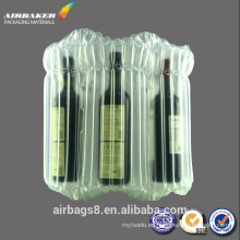 aire burbuja plástico embalaje bolsa bolsa protectora vino rojo de la columna