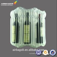 Air-bag saco de plástico da embalagem da bolha para o saco vermelho vinho protetor coluna