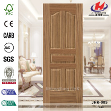 Piel de la puerta de chapa de madera de teca Mini moderno