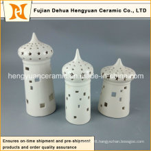House Shape Ceramic Candle Holder for Islam Decoration