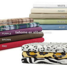 Juego de sábanas Premier Comfort Cozy Spun All Seasons Plaid de 145 g / m²