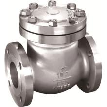 Válvula de retenção de flange com flange de aço fundido ANSI