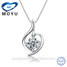 silver 925 rhodium plated pendant fashion jewelry 2015
