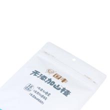 Bolsa de pie mate personalizada con cremallera para alimentos