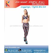 Women's sportwear gym fitness wear seamless top and leggings set