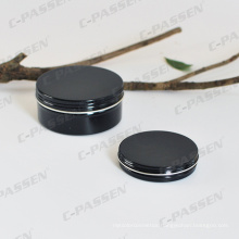 150g Glossy Black Aluminum Cosmetics Packaging Container