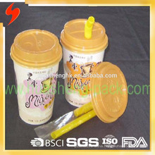 Hot sale printed 16oz paper cups with lid