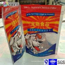 Stand up Ziplock comida para perros bolsa de plástico de embalaje