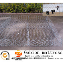 Steel galvanized wire woven rock gabion baskets slope greening reno mattress foundation supporting stone gabion mattress