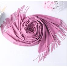 Female Warm Tassel Shawl wholesale  hijab scarf Blank color custom design scarf hot hijab  women scarf