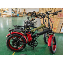 China Factory Supply 20inch 500W 1000W fat tire folding electric bike for Adults