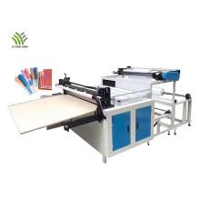 Rollo de película de PVC a máquina cortadora de hojas
