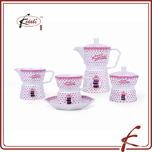 Octagon pink factory teapot set wholesale