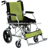 2015 best selling aluminum lightweight traveling wheelchair with flip up armrest with CE in china