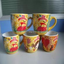 Promotional  Ceramic Mugs with C-Handle