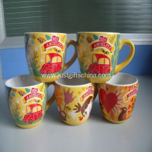 Promotional  Ceramic Mugs with C-Handle