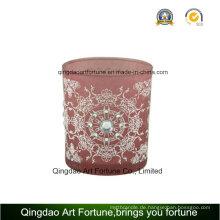 Heiße Verkaufs-Glaskerze mit Dekoration und Muster