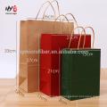 Venda quente logotipo personalizado impressão reciclar saco de compras de papel kraft