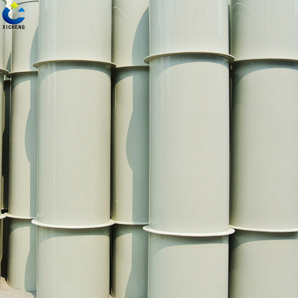Plastic ventilation ducting pipe