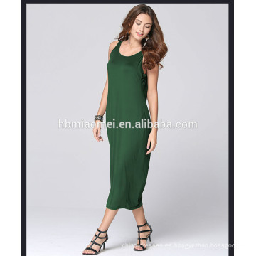2017 recién llegado de la venta caliente de las mujeres vestido largo backless color sólido mujeres vestido de verano