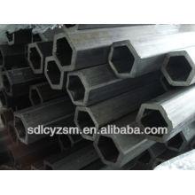 Tubos de tubos de acero huecos hexagonales perforados